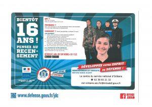 affiche recensement militaire