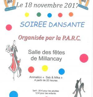 Soirée dansante organisée par la PARC