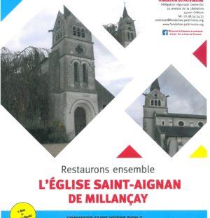 Souscription pour la restauration de l'église de Millançay