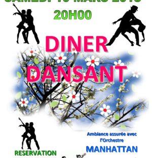 Diner dansant Bal de printemps 10 Mars 2018