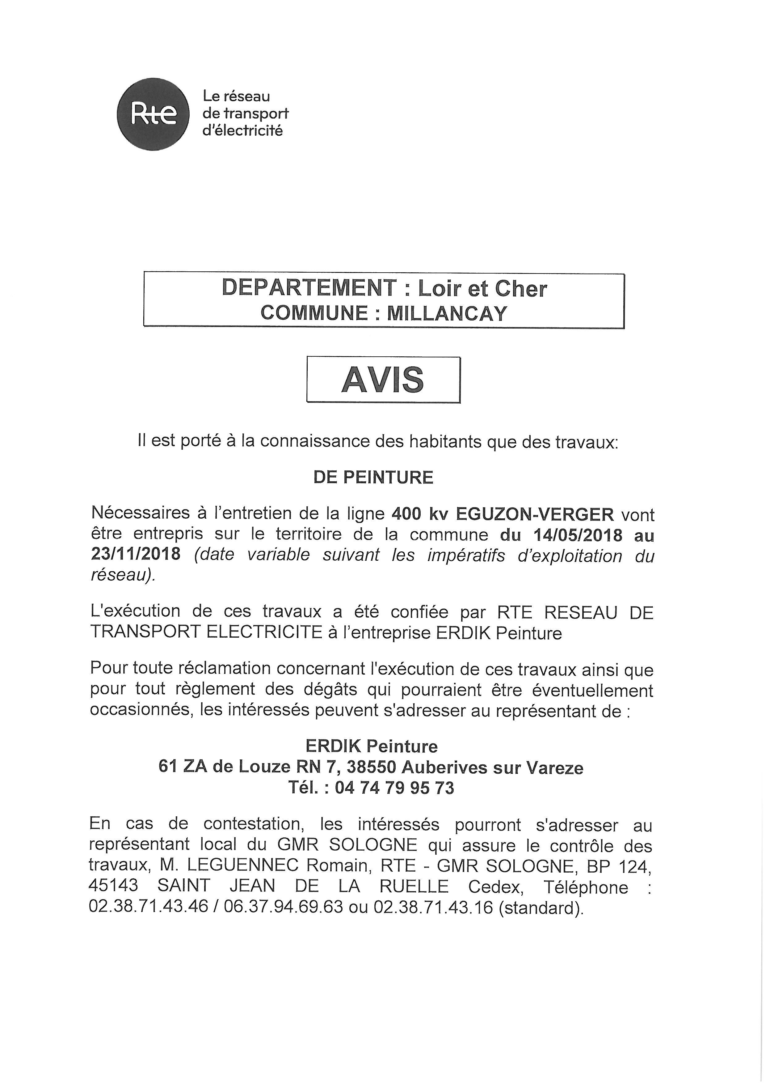 Expired: Travaux Sur Les Lignes Haute Tension