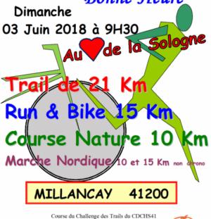 Course nature autour de la Bonne-heure 3/06/2018
