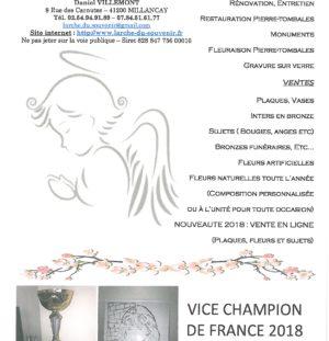 L'Arche du souvenir Vice Champion de France de Gravure sur verre 2018