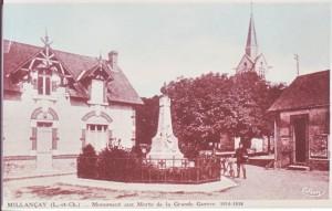 carte postale ancienne - 3 monument aux morts